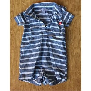 NWOT CARTERS Striped Shorts Onesie